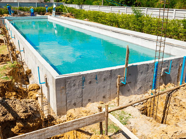 Construindo piscina sem dor de cabe a weber produtos for Piscina de fibra elevada